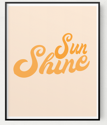 Retro Sunshine Print 8x10