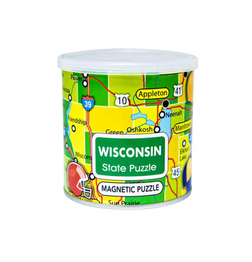Magnetic Puzzle Wisconsin- Geo Toys