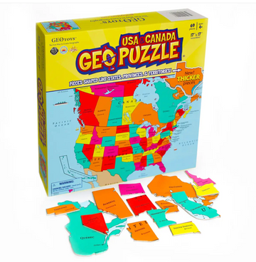 GeoPuzzle USA and Canada- Geo Toys