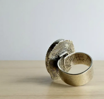 Pyrite Crystal Statement Ring