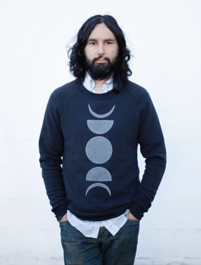 Moon Phases Organic Cotton Fleece Sweatshirt