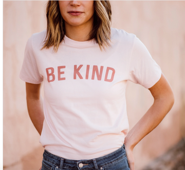 Be Kind Tee - Faded Pink