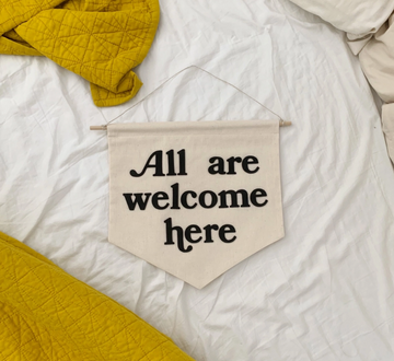 All Are Welcome Banner (black)