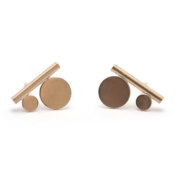 Tiny Modern Nomad Post Earrings
