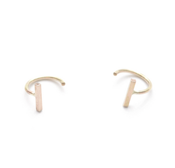 Dash Ear Hug Hoops Earrings