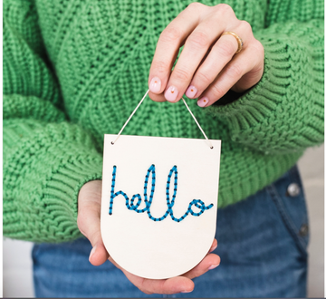 Hello Embroidery Banner Kit