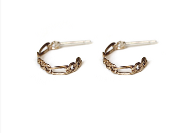 Kindred Small Link Hoop Earrings - Bronze