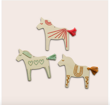 Wooden Dala Horse Embroidery Kit