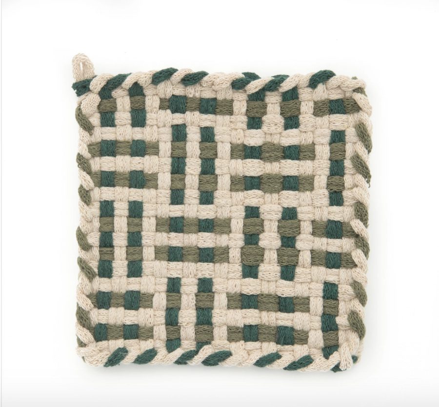 Hand-Woven Potholders by Kate Kilmurray -Various Colors-