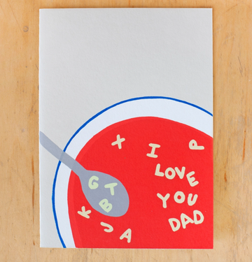 Dad Soup Greeting Card