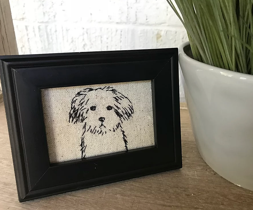 Stitch M-Fluffy Scruff Lil One Stitched Art