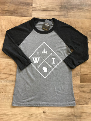 Forward Apparel-Arrow Raglan-Charcoal