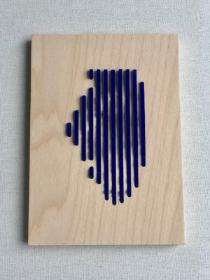 Human Crafted-Illinois Elevations Plaque-Blue