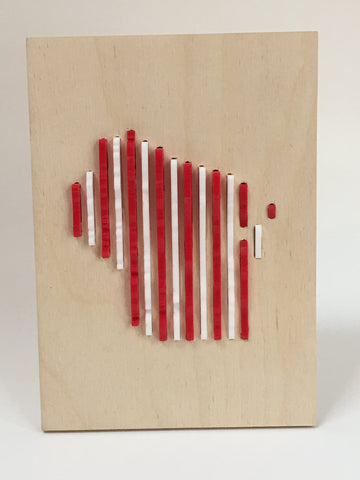 Human Crafted-Wisconsin Art- Red/White