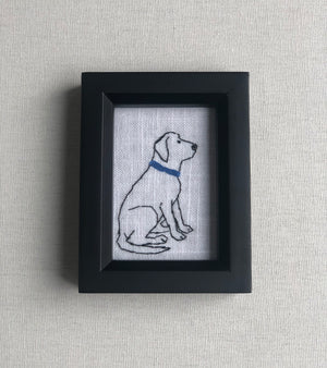 Stitch M-Blue Collar Worker Stitched Art