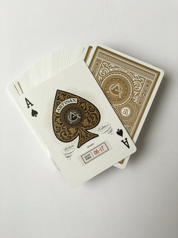 Theory 11-Artisan White Playing Cards