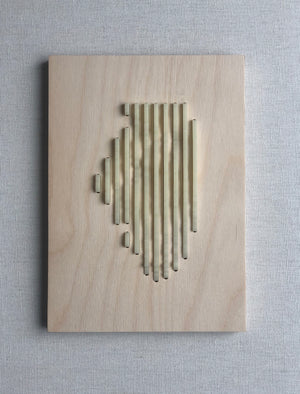 Human Crafted-Illinois Elevations Plaque-Off White