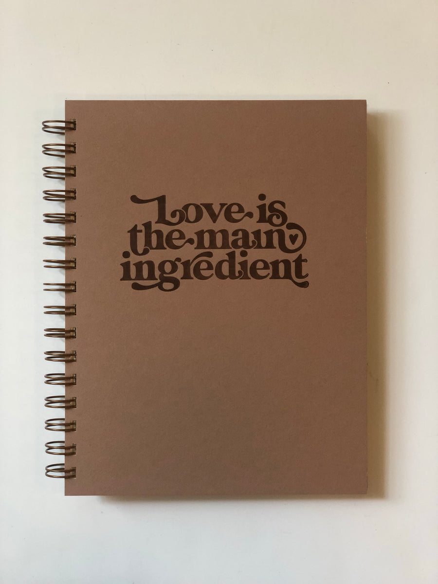 Ruff House Art- Love is the Ingredient- Recipe Cookbook