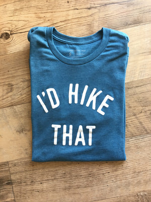 I'd Hike That-Unisex Short Sleeve Tee in Glacier Blue