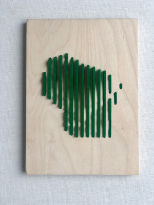 Human Crafted-Wisconsin Elevations Plaque-Green