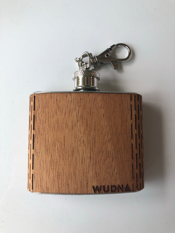 WUDN - Mini wooden flask keychain