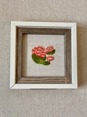 Thimble & Birch Art - Pink and coral flowers
