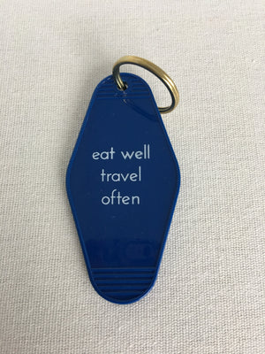 He Said, She Said-Eat Well Travel Often-Key Tag