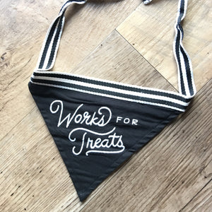 Easy, Tiger-Works For Treats-Dog Bandana