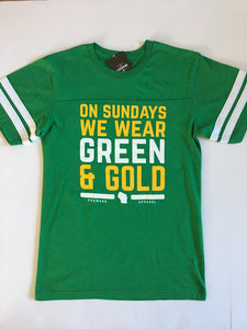 Forward Apparel-On Sundays We Wear Green and Gold Jersey