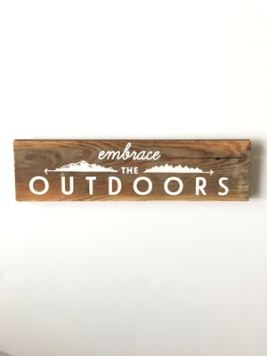 Woodward Throwbacks-Embrace the Outdoors Wall Sign