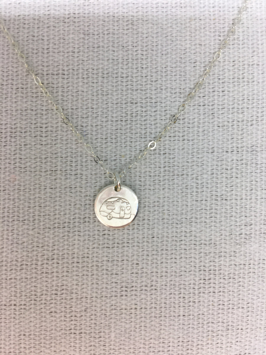 Adorn-Tiny Vibes Necklace-Silver Camper