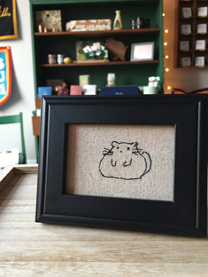 Fat Cat Stitched Art