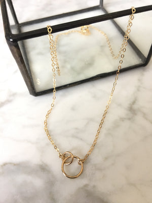 Hello Adorn-Tiny Links Necklace-14kt Gold Fill
