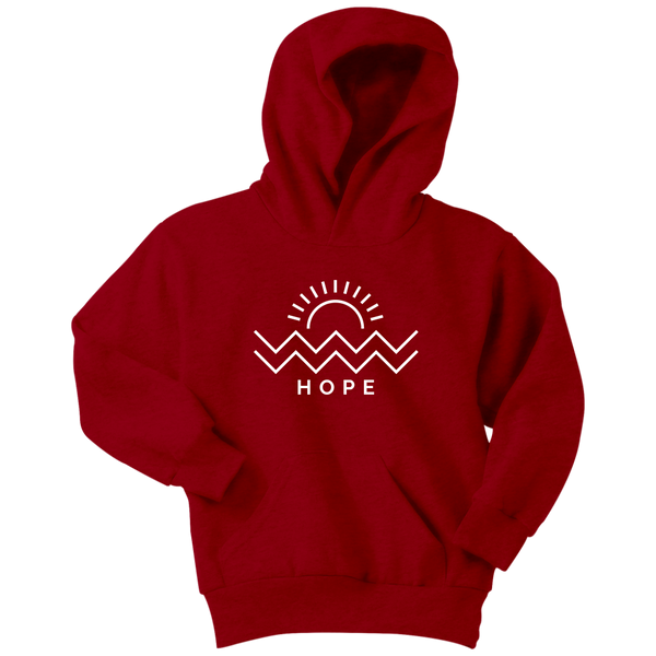 Hope Is Coming Youth Hoodie White