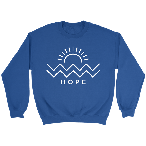 Hope Is Coming Crewneck White