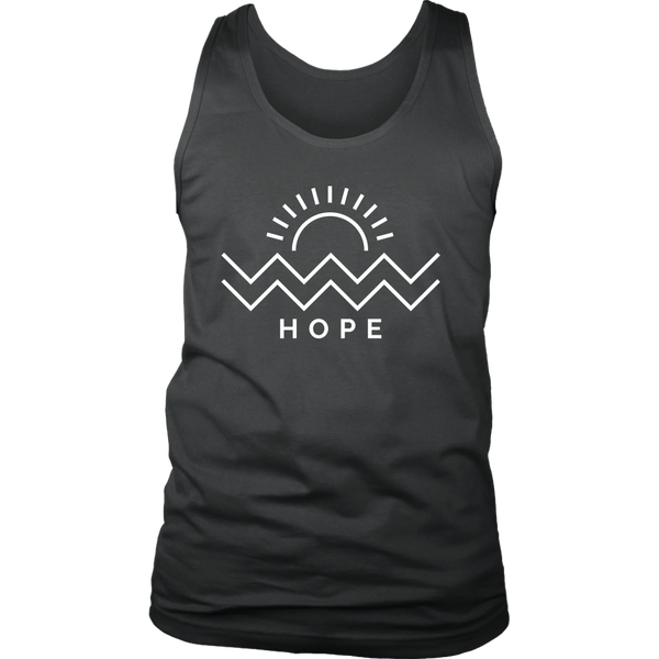 Hope Is Coming Mens Tank White