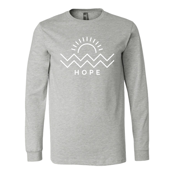 Hope Is Coming Unisex Long Sleeve White