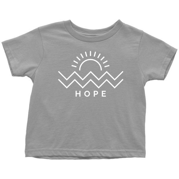 Hope Is Coming Toddler Tee White