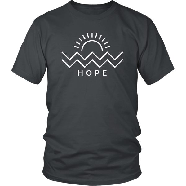 Hope Is Coming Unisex Tee White