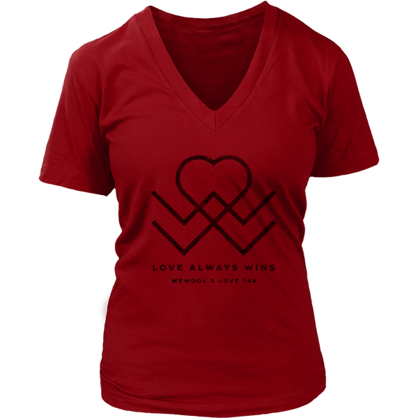 Love Always Wins Womens V-Neck