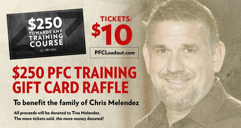 Raffle Ticket for $250 PFC Training Gift Card