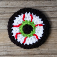 Bloodshot Eyeball Crochet Pattern
