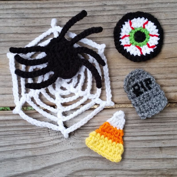 Halloween Appliques Crochet Pattern Bundle