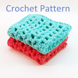 Mesh Dishcloth Crochet Pattern PDF