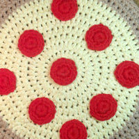 Pizza Potholder Crochet Pattern PDF