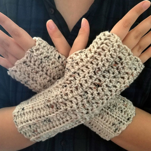 Ribbed Fingerless Gloves Crochet Pattern