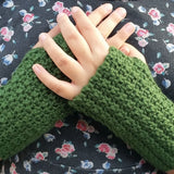 Textured Fingerless Gloves Crochet Pattern