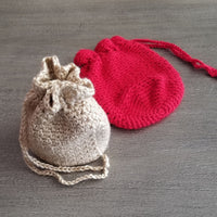 Woven Drawstring Bag Crochet Pattern