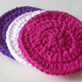Circle and Flower Face Scrubbies Pattern PDF