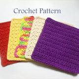 Textured Dishcloth Crochet Pattern PDF